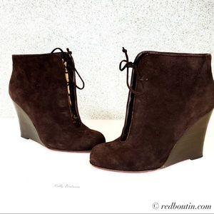 Christian Louboutin Chaperon Brown Wedge boots